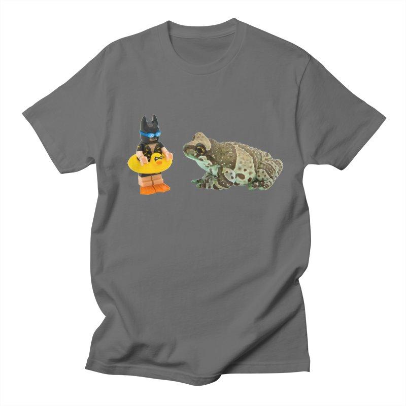 Amazon Milk Frog Chatting With Batman About His Swim Lesson Men's T-Shirt by Gary Mc Alea Photography's Artist Shop