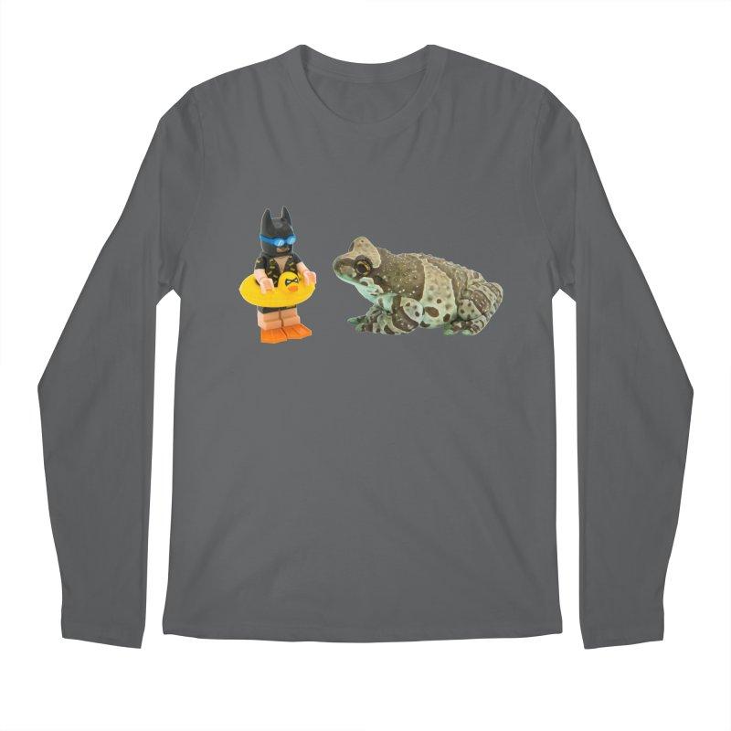 Amazon Milk Frog Chatting With Batman About His Swim Lesson Men's Longsleeve T-Shirt by Gary Mc Alea Photography's Artist Shop