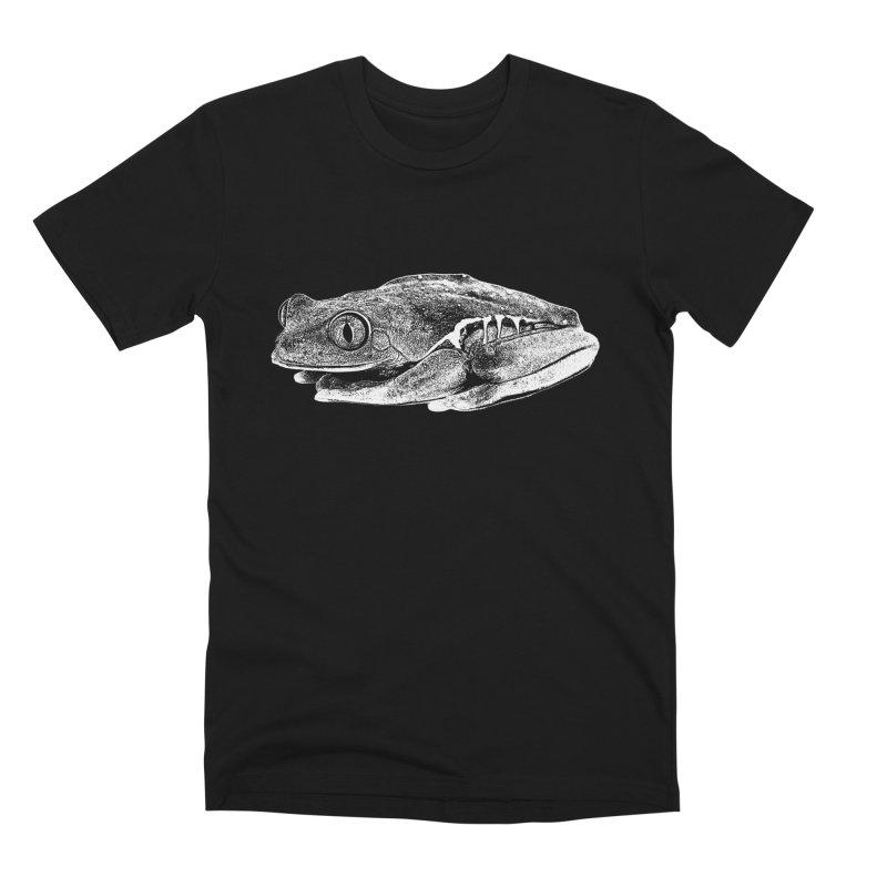 Red-Eye Tree Frog Line Art Men's T-Shirt by Gary Mc Alea Photography's Artist Shop