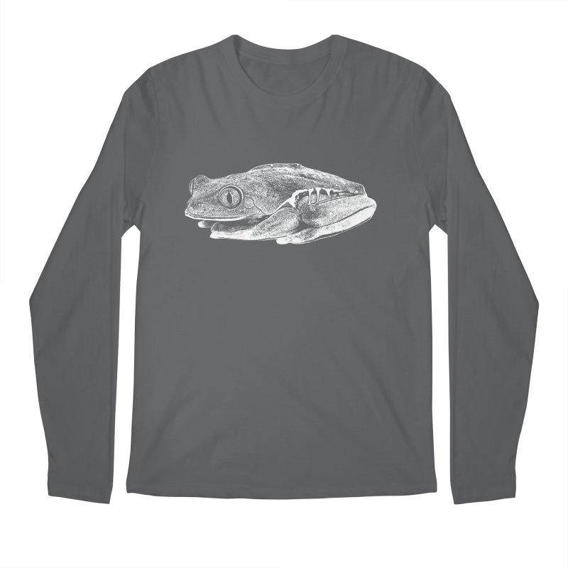 Red-Eye Tree Frog Line Art Men's Longsleeve T-Shirt by Gary Mc Alea Photography's Artist Shop
