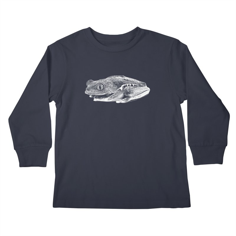 Red-Eye Tree Frog Line Art Kids Longsleeve T-Shirt by Gary Mc Alea Photography's Artist Shop