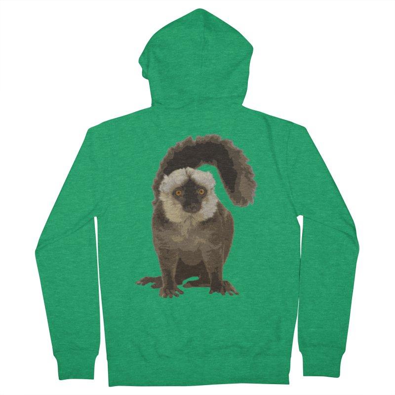 Lemur Men's Zip-Up Hoody by Gary Mc Alea Photography's Artist Shop