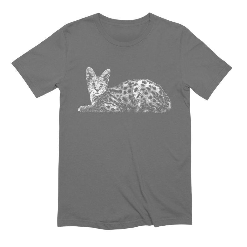 Serval Men's T-Shirt by Gary Mc Alea Photography's Artist Shop