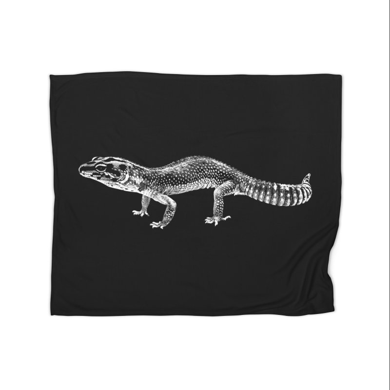 Big Is Beautiful – Fat-tailed Gecko Home Blanket by Gary Mc Alea Photography's Artist Shop