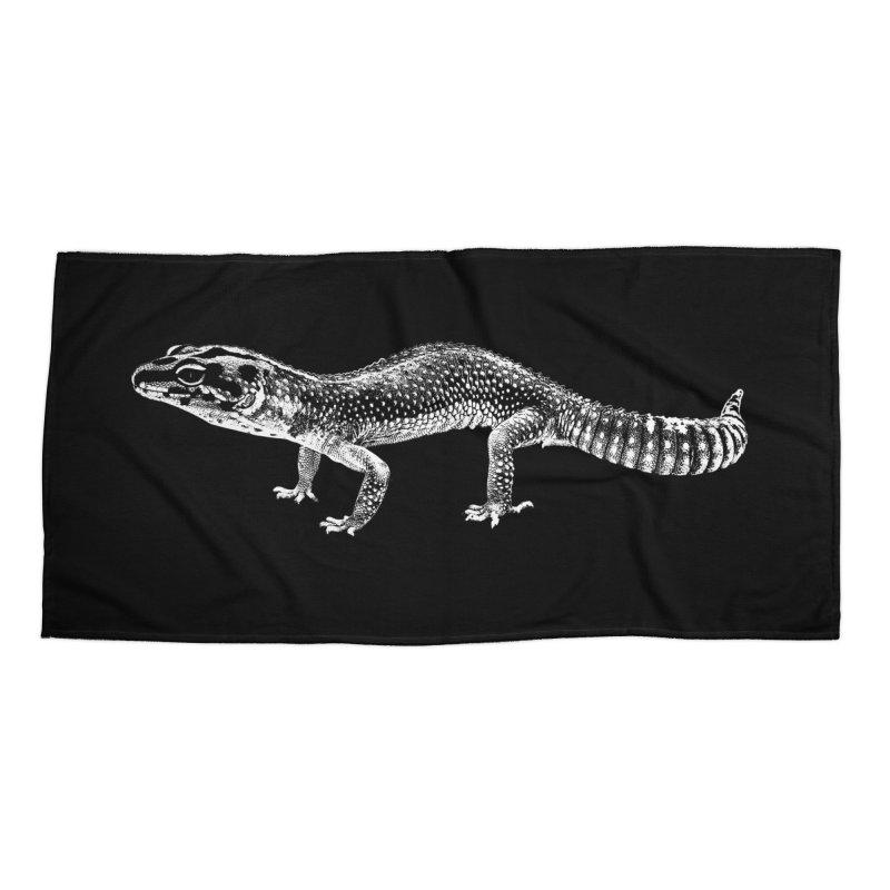 Big Is Beautiful – Fat-tailed Gecko Accessories Beach Towel by Gary Mc Alea Photography's Artist Shop