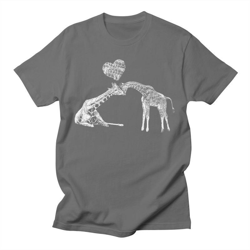 Mommy and Me - Giraffe Love Men's T-Shirt by Gary Mc Alea Photography's Artist Shop