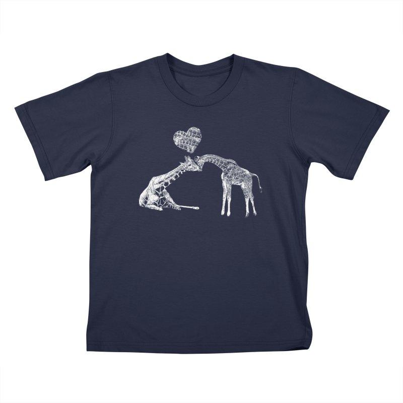 Mommy and Me - Giraffe Love Kids T-Shirt by Gary Mc Alea Photography's Artist Shop
