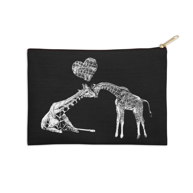 Mommy and Me - Giraffe Love Accessories Zip Pouch by Gary Mc Alea Photography's Artist Shop