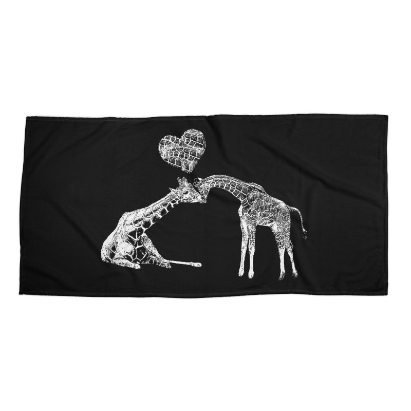 Mommy and Me - Giraffe Love Accessories Beach Towel by Gary Mc Alea Photography's Artist Shop
