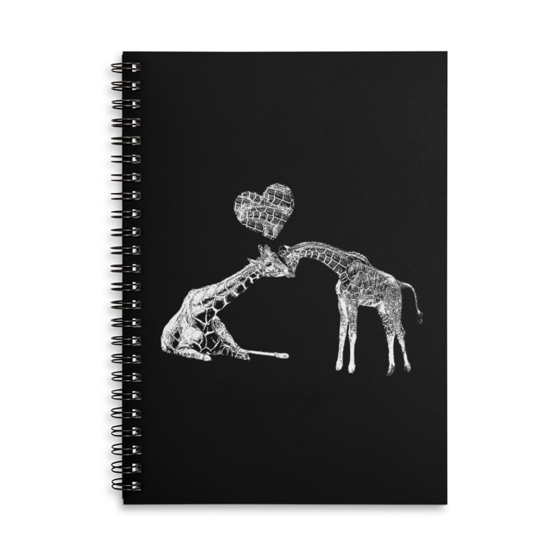 Mommy and Me - Giraffe Love Accessories Notebook by Gary Mc Alea Photography's Artist Shop