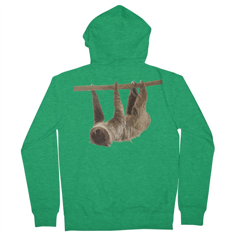 Hangin' With Sloth Men's Zip-Up Hoody by Gary Mc Alea Photography's Artist Shop