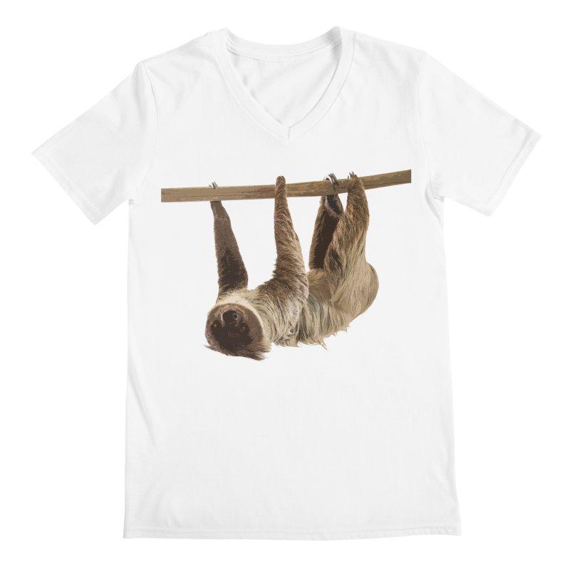 Hangin' With Sloth Men's V-Neck by Gary Mc Alea Photography's Artist Shop