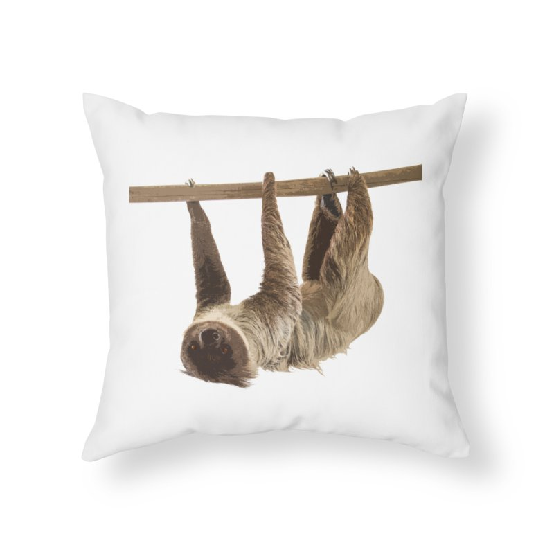 Hangin' With Sloth Home Throw Pillow by Gary Mc Alea Photography's Artist Shop