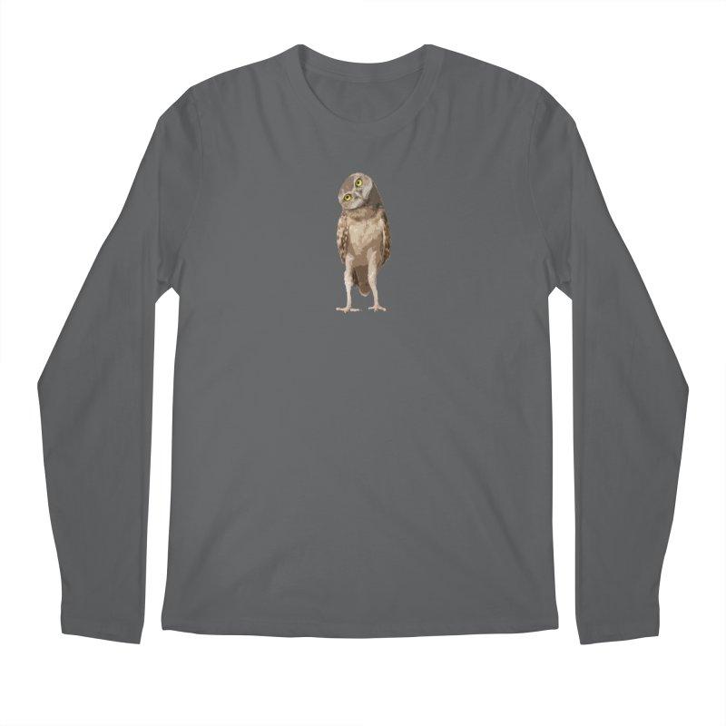 Burrowing Owl Men's Longsleeve T-Shirt by Gary Mc Alea Photography's Artist Shop