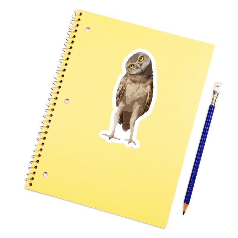 Burrowing Owl Accessories Sticker by Gary Mc Alea Photography's Artist Shop