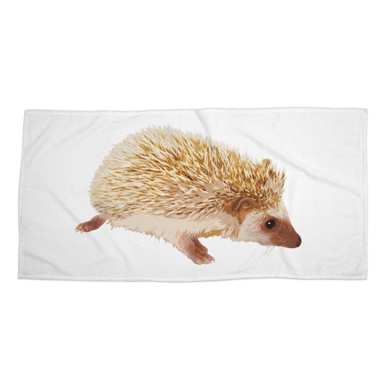 Hedgehog Accessories Beach Towel by Gary Mc Alea Photography's Artist Shop