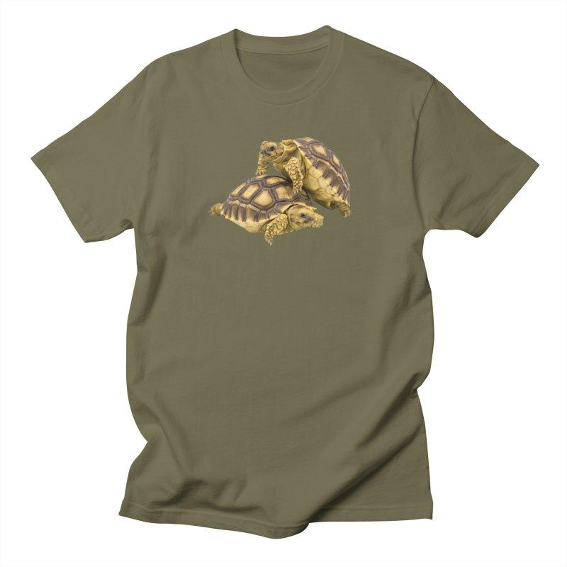 African Spurred Tortoises Men's T-Shirt by Gary Mc Alea Photography's Artist Shop