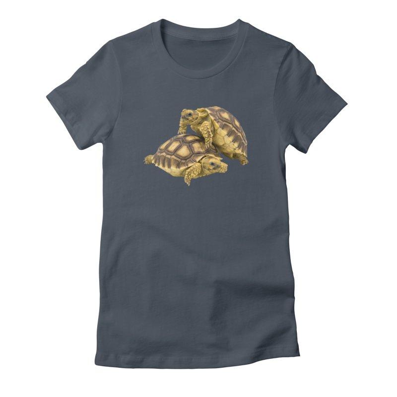 African Spurred Tortoises Women's T-Shirt by Gary Mc Alea Photography's Artist Shop
