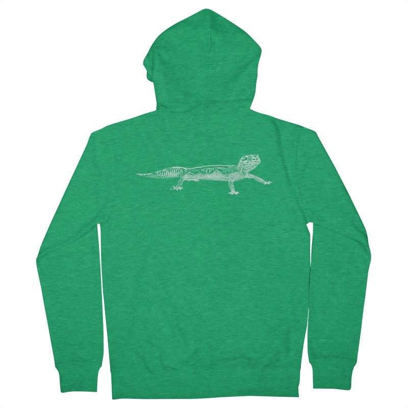 Leopard Gecko Men's Zip-Up Hoody by Gary Mc Alea Photography's Artist Shop