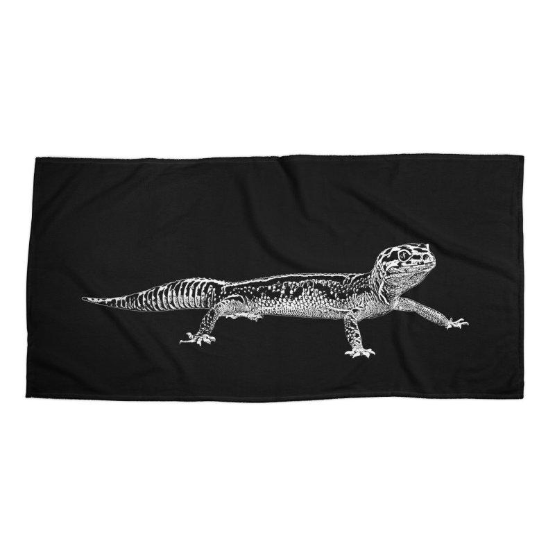 Leopard Gecko Accessories Beach Towel by Gary Mc Alea Photography's Artist Shop