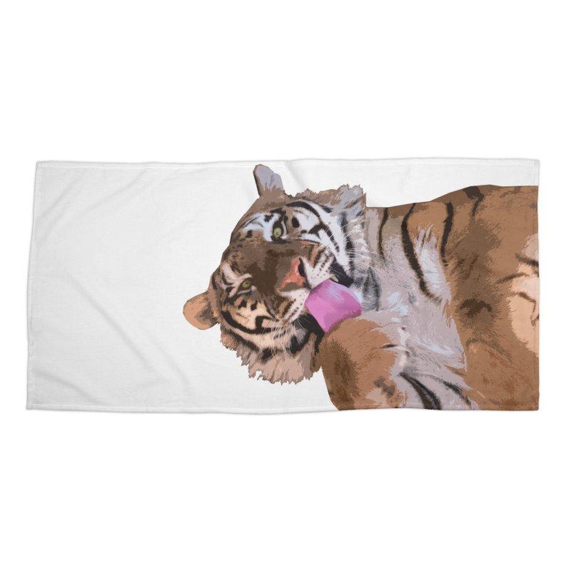 Tiger Accessories Beach Towel by Gary Mc Alea Photography's Artist Shop