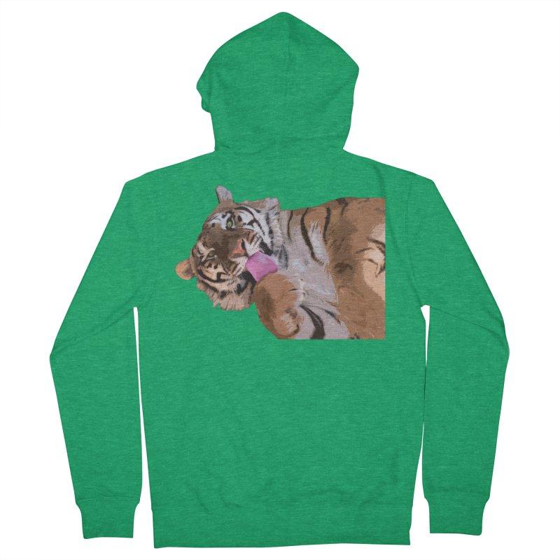 Tiger Men's Zip-Up Hoody by Gary Mc Alea Photography's Artist Shop