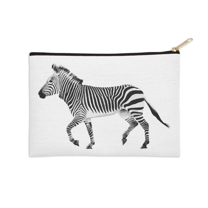 Zebra Accessories Zip Pouch by Gary Mc Alea Photography's Artist Shop