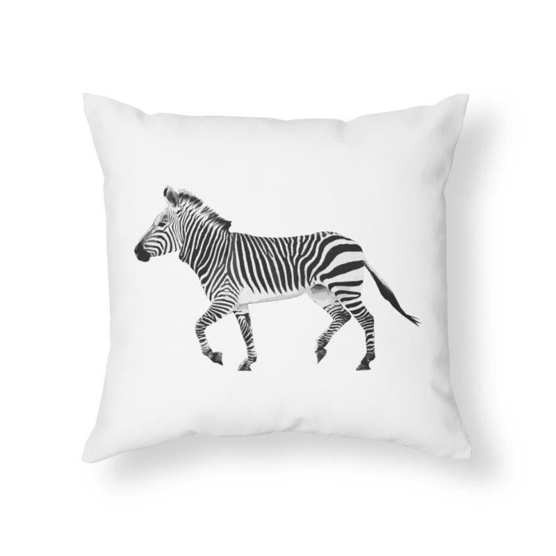 Zebra Home Throw Pillow by Gary Mc Alea Photography's Artist Shop
