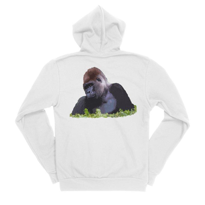 Silverback Gorilla Women's Zip-Up Hoody by Gary Mc Alea Photography's Artist Shop