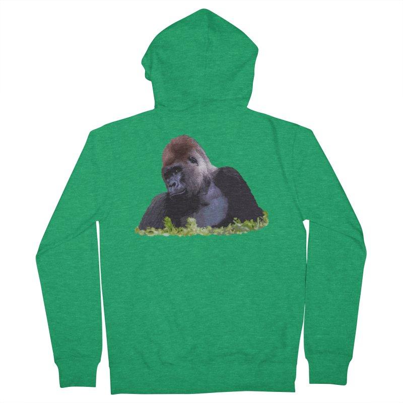 Silverback Gorilla Men's Zip-Up Hoody by Gary Mc Alea Photography's Artist Shop