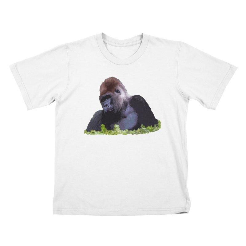 Silverback Gorilla Kids T-Shirt by Gary Mc Alea Photography's Artist Shop