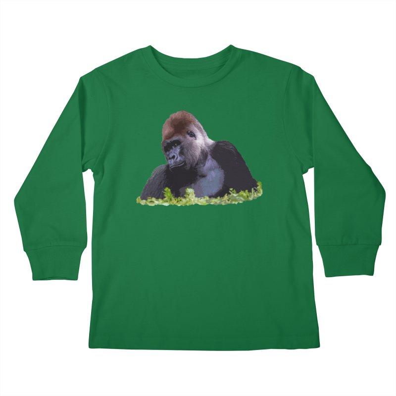 Silverback Gorilla Kids Longsleeve T-Shirt by Gary Mc Alea Photography's Artist Shop
