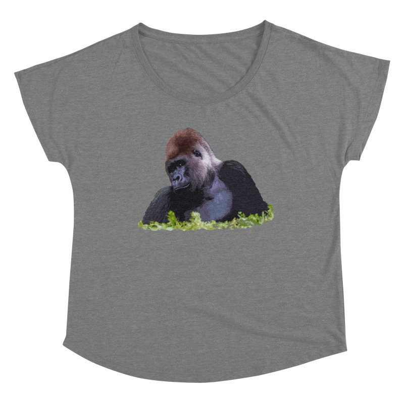 Silverback Gorilla Women's Scoop Neck by Gary Mc Alea Photography's Artist Shop