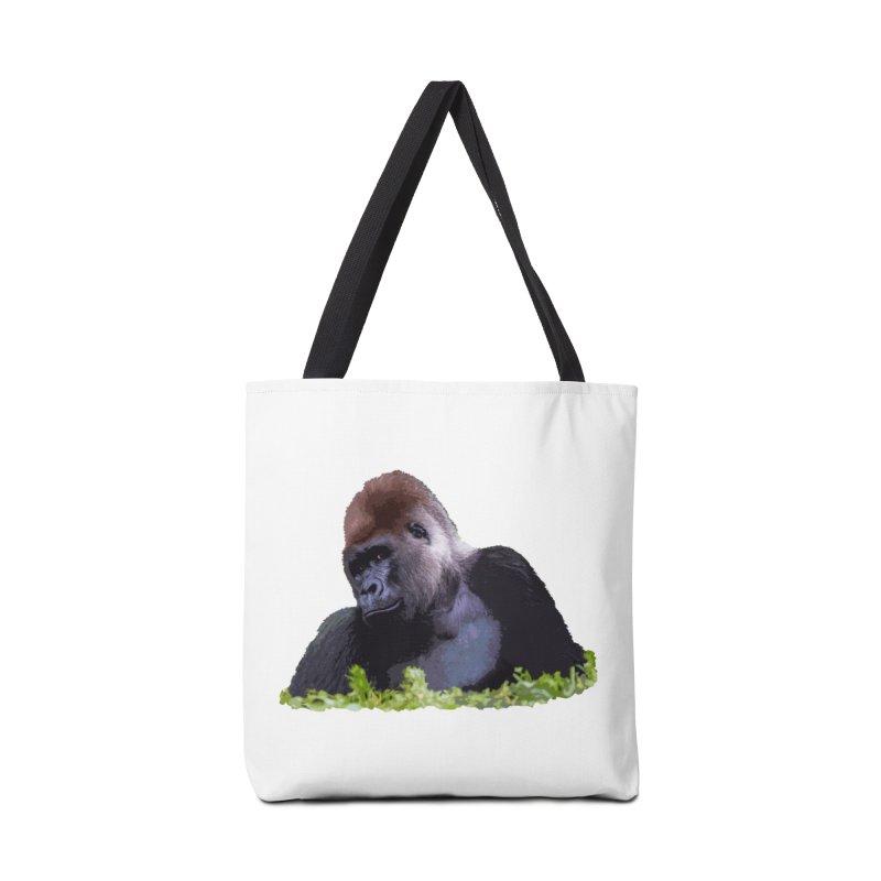 Silverback Gorilla Accessories Bag by Gary Mc Alea Photography's Artist Shop