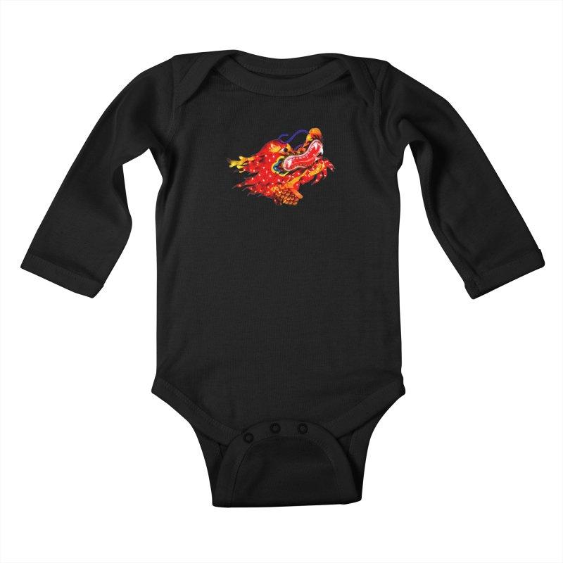 Dragon Head Kids Baby Longsleeve Bodysuit by Gary Mc Alea Photography's Artist Shop