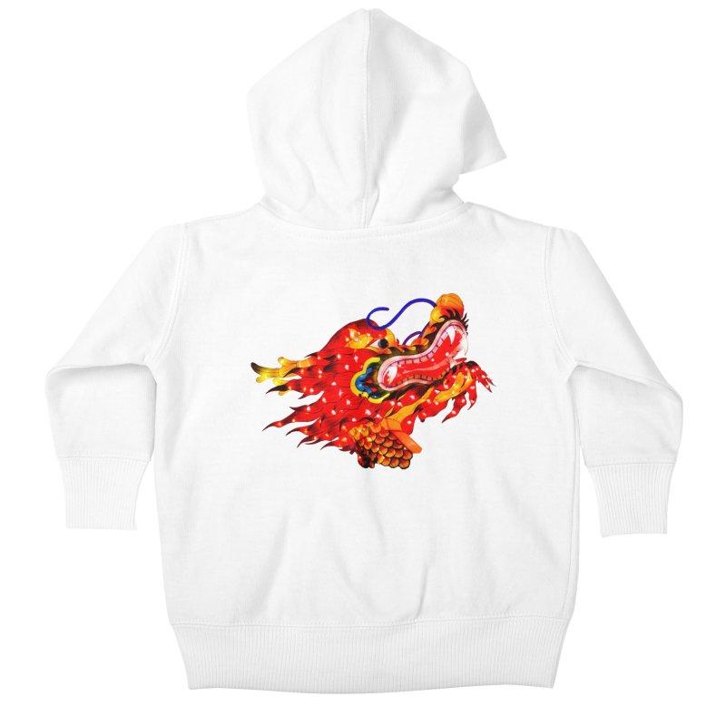 Dragon Head Kids Baby Zip-Up Hoody by Gary Mc Alea Photography's Artist Shop