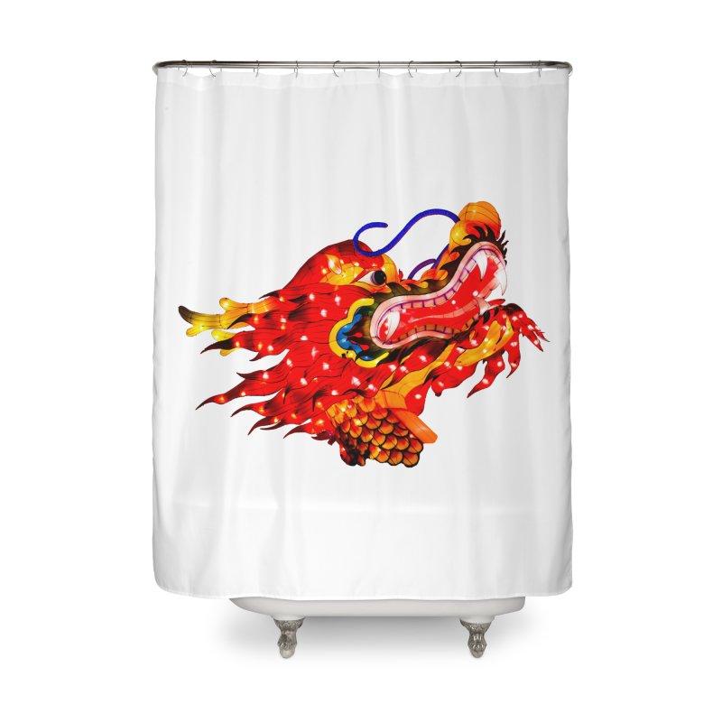Dragon Head Home Shower Curtain by Gary Mc Alea Photography's Artist Shop