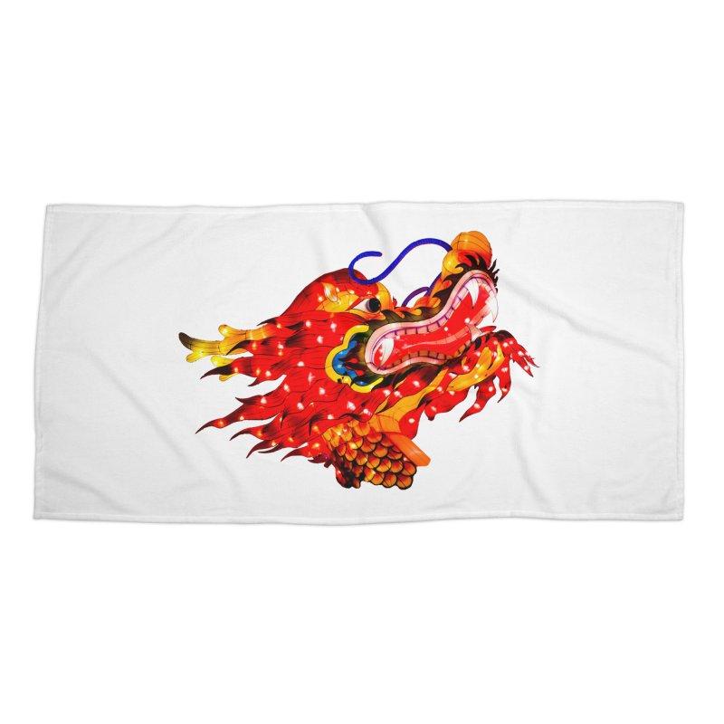 Dragon Head Accessories Beach Towel by Gary Mc Alea Photography's Artist Shop