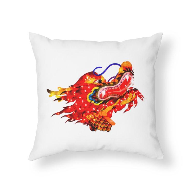 Dragon Head Home Throw Pillow by Gary Mc Alea Photography's Artist Shop