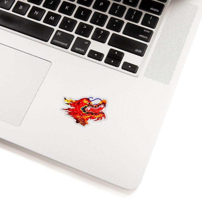 Dragon Head Accessories Sticker by Gary Mc Alea Photography's Artist Shop