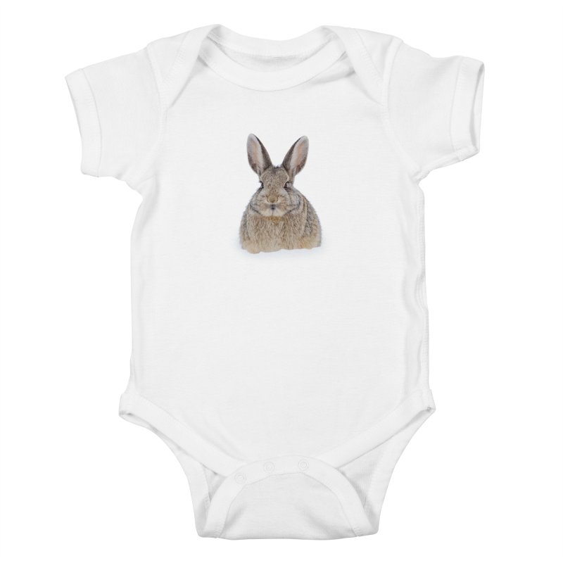 Snow Bunny Kids Baby Bodysuit by Gary Mc Alea Photography's Artist Shop