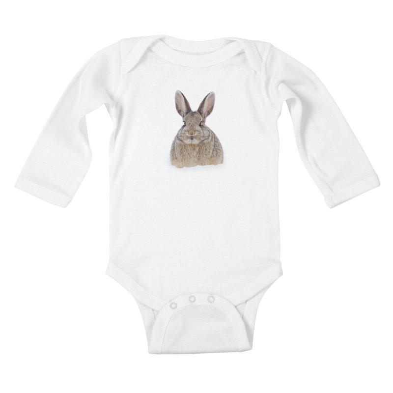 Snow Bunny Kids Baby Longsleeve Bodysuit by Gary Mc Alea Photography's Artist Shop