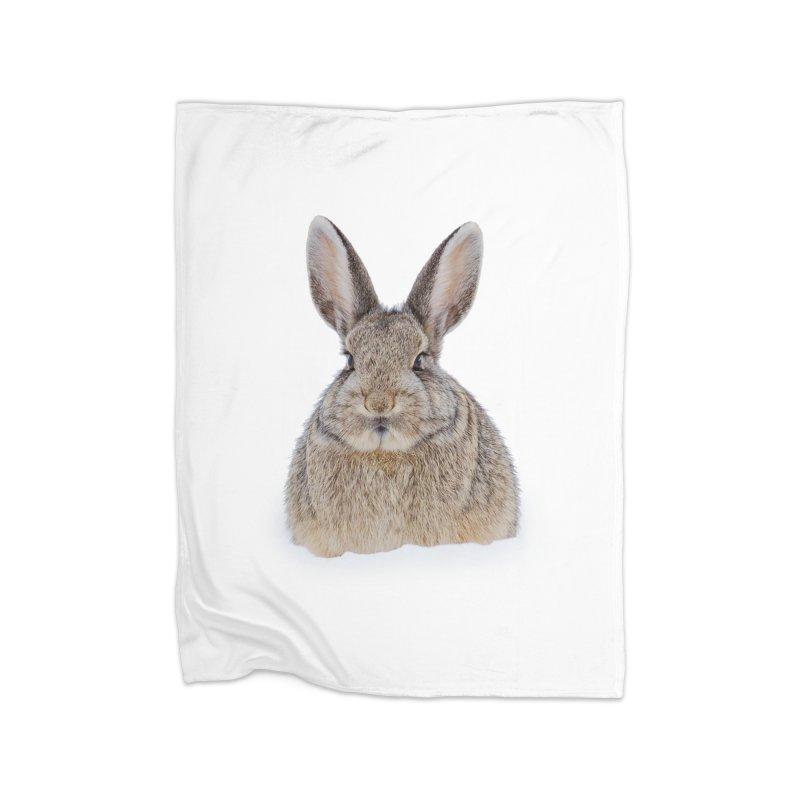 Snow Bunny Home Blanket by Gary Mc Alea Photography's Artist Shop