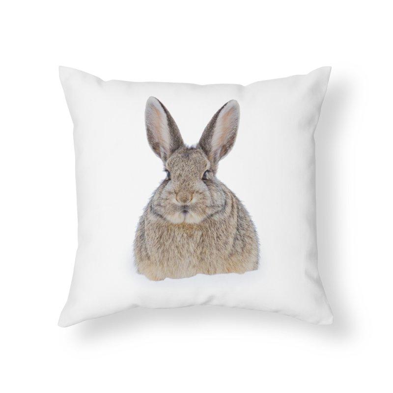 Snow Bunny Home Throw Pillow by Gary Mc Alea Photography's Artist Shop