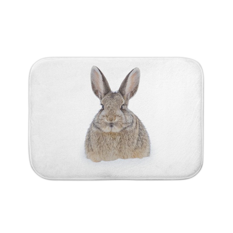 Snow Bunny Home Bath Mat by Gary Mc Alea Photography's Artist Shop