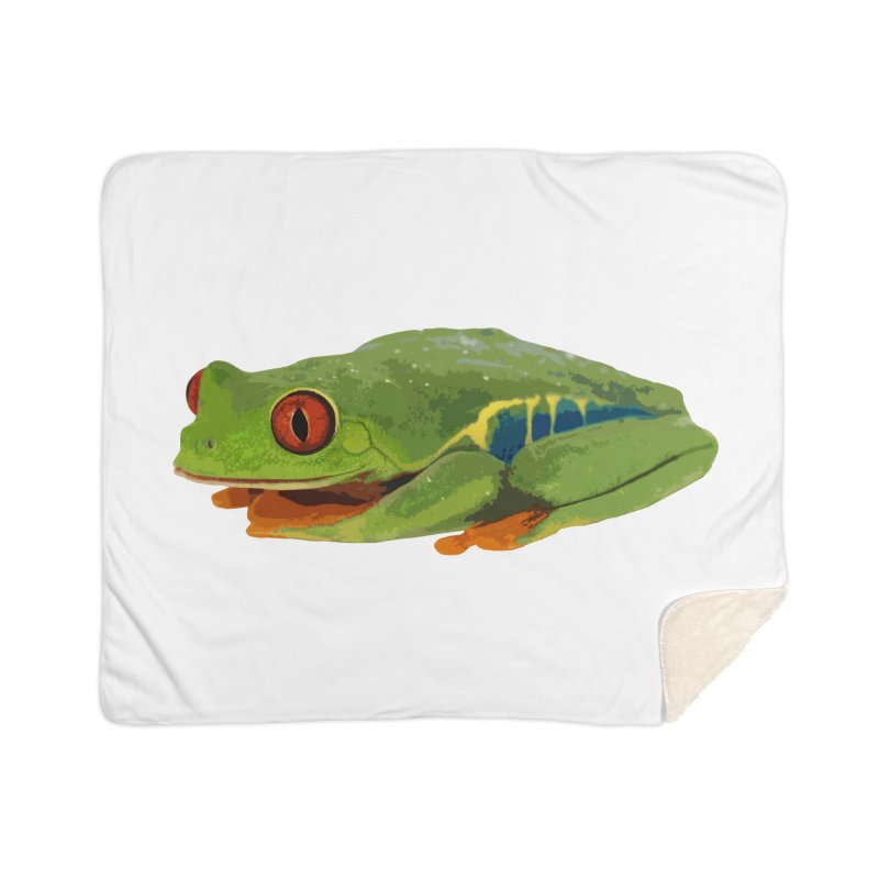 Red-Eyed Tree Frog Home Blanket by Gary Mc Alea Photography's Artist Shop
