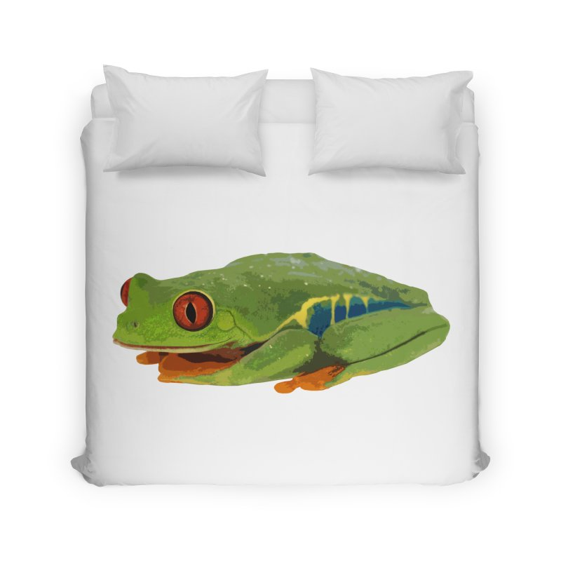 Red-Eyed Tree Frog Home Duvet by Gary Mc Alea Photography's Artist Shop