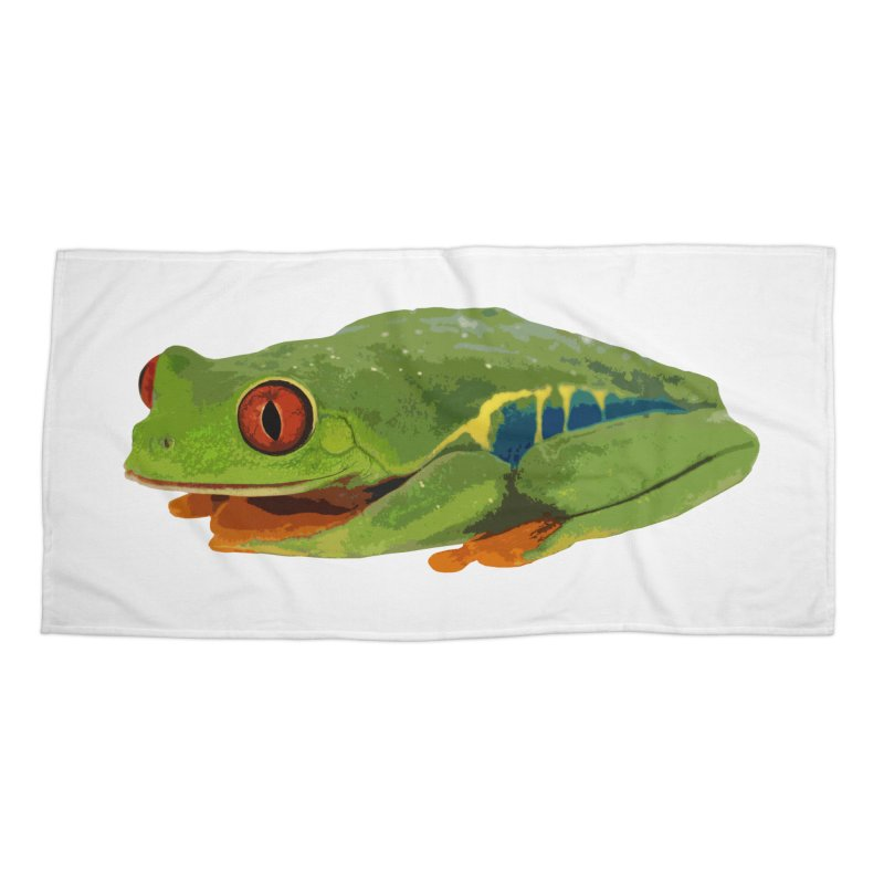 Red-Eyed Tree Frog Accessories Beach Towel by Gary Mc Alea Photography's Artist Shop
