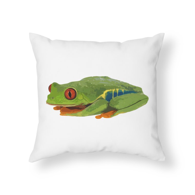 Red-Eyed Tree Frog Home Throw Pillow by Gary Mc Alea Photography's Artist Shop
