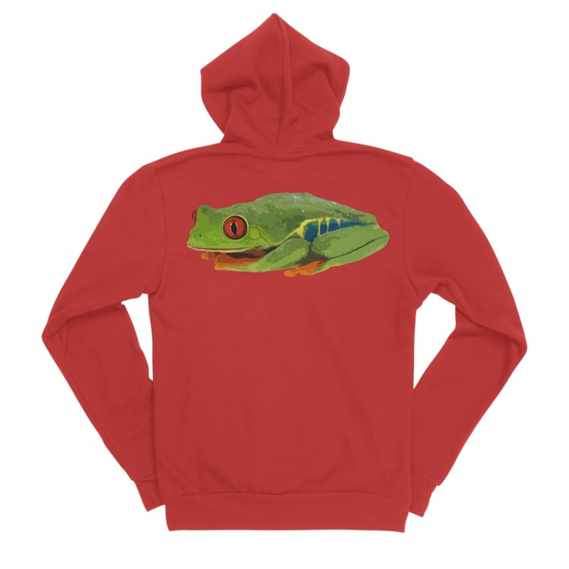 Red-Eyed Tree Frog Women's Zip-Up Hoody by Gary Mc Alea Photography's Artist Shop